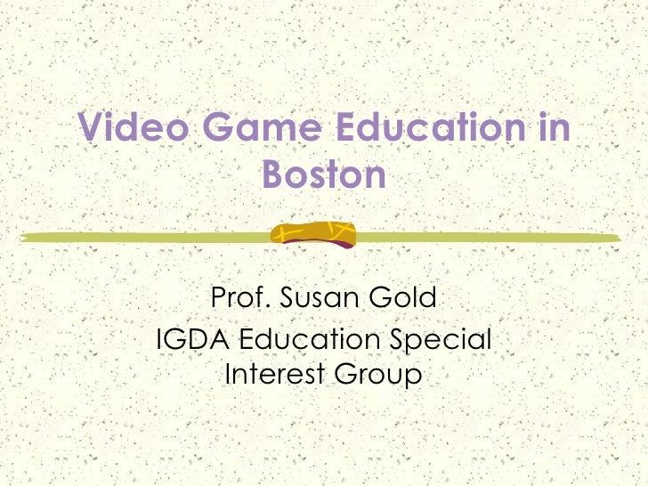 Boston IGDA Meeting
