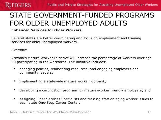 Arizona mature workers job bank