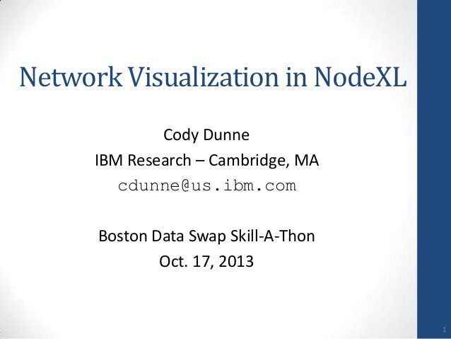 Boston DataSwap 2013 -- Network Visualization in NodeXL