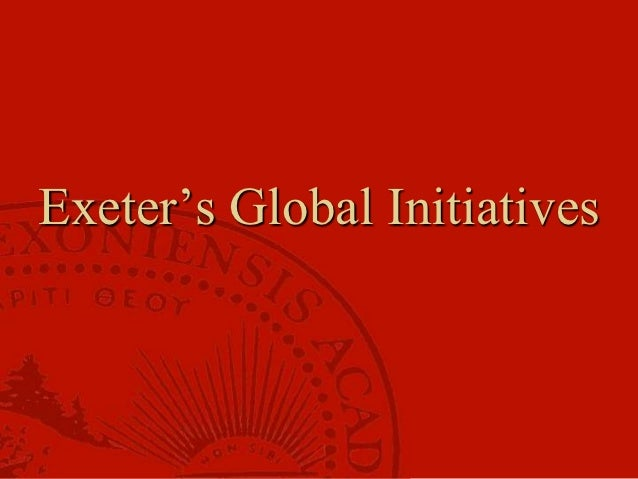 Exeter and Global Leadership