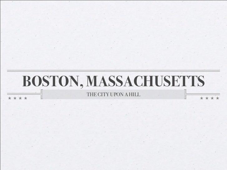 A Brief Urbanization of Boston