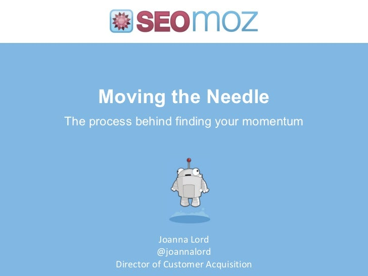 Moving the Needle on Your Marketing Efforts