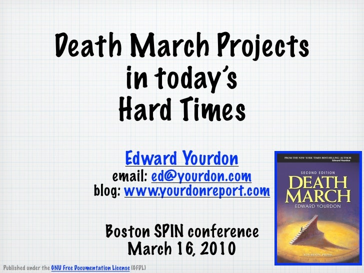 Boston spin conference death march yourdon