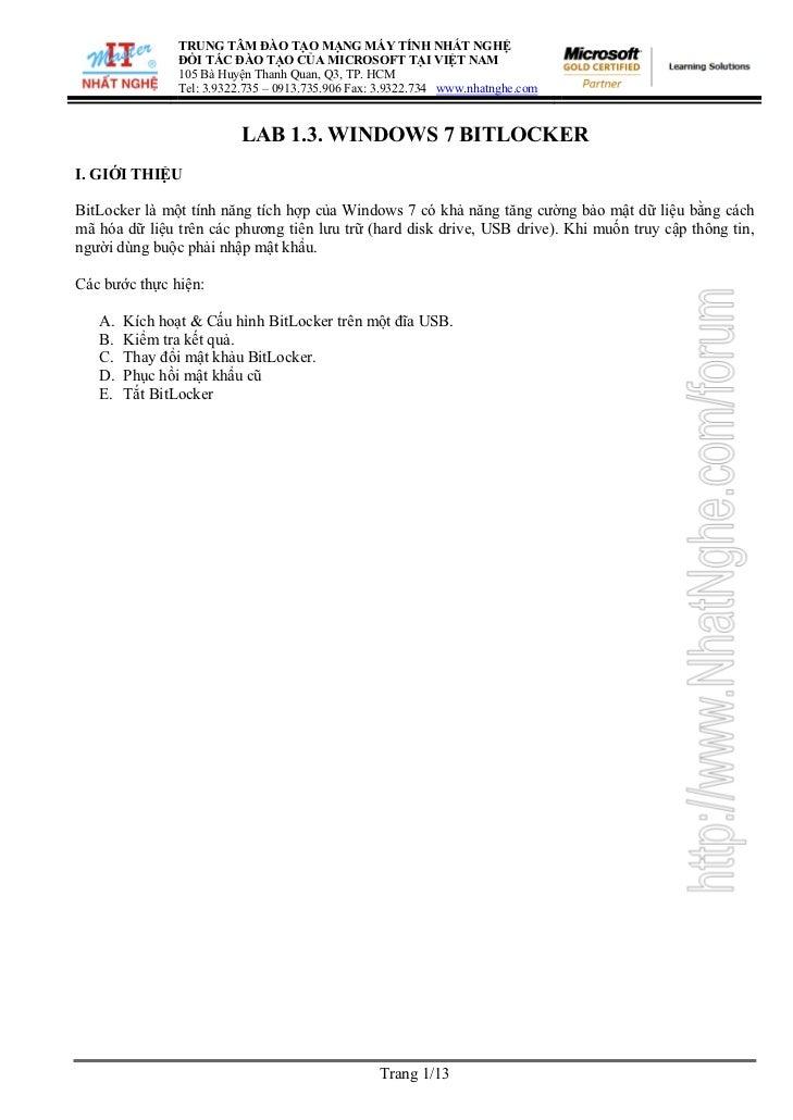 TRUNG TÂM ĐÀO TẠO MẠNG MÁY TÍNH NHẤT NGHỆ                ĐỐI TÁC ĐÀO TẠO CỦA MICROSOFT TẠI VIỆT NAM                105 Bà ...