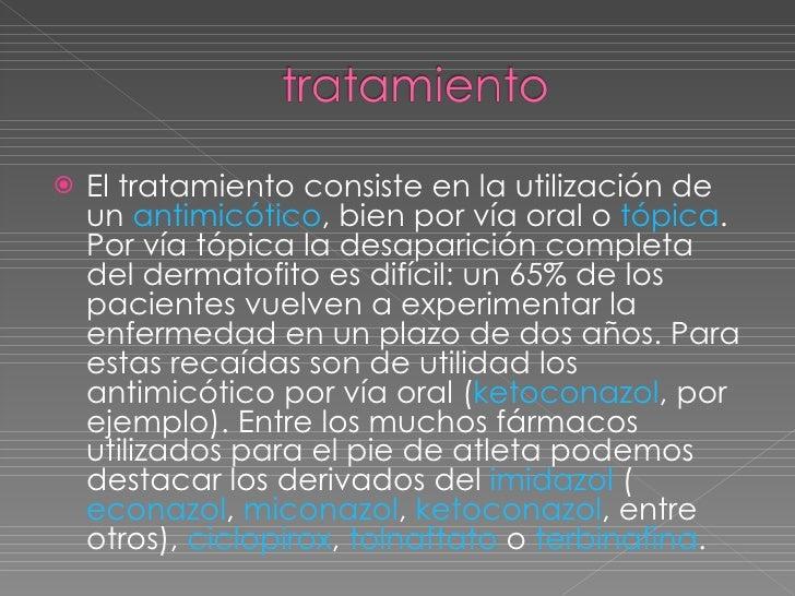 El tratamiento del hongo de las uñas por las pastillas terbinafina