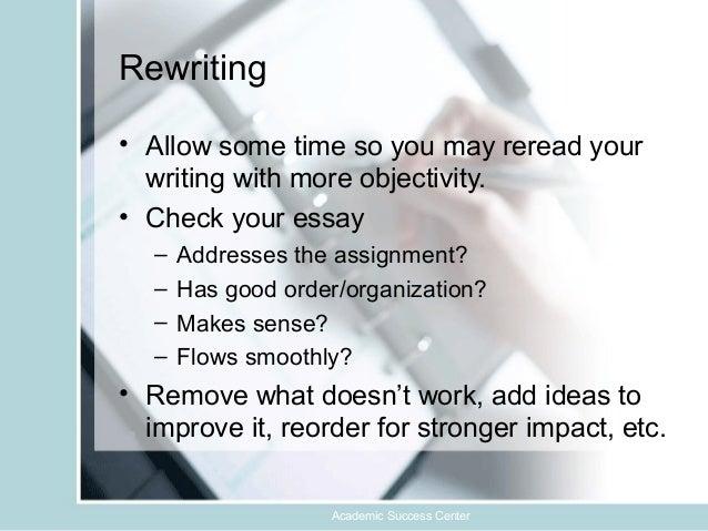 Proper essay writing