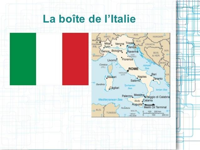 La boîte de l'Italie