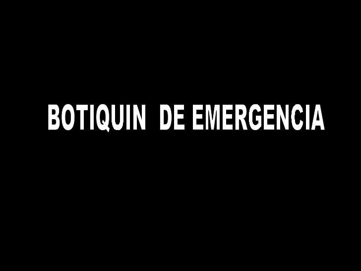 Botiquín de emergencia