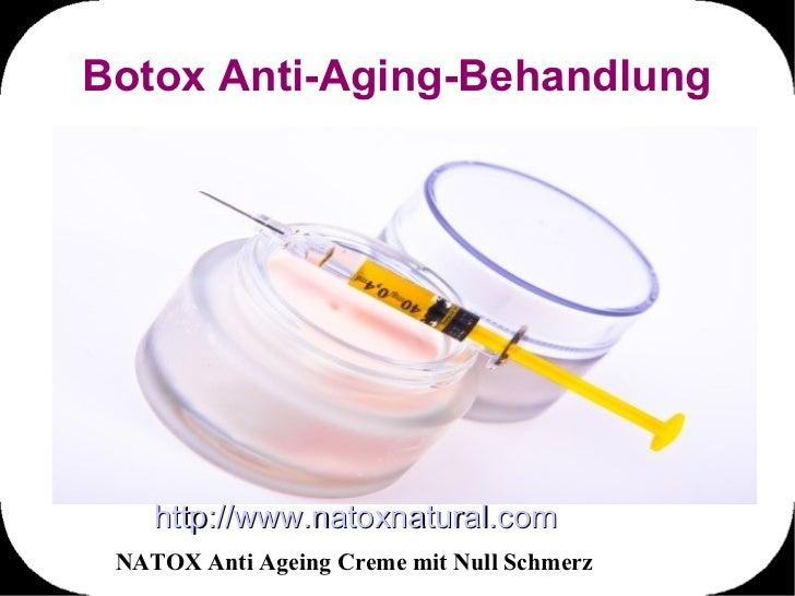 Botox Anti-Aging-Behandlung    http://www.natoxnatural.com NATOX Anti Ageing Creme mit Null Schmerz