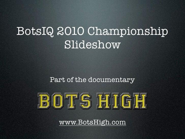 BotsIQ Robot Battling Slideshow