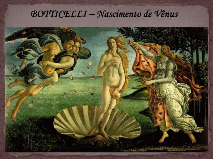 Botticelli – o nascimento de vénus