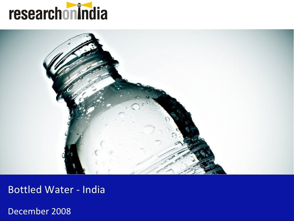 Bottled Water - India December 2008