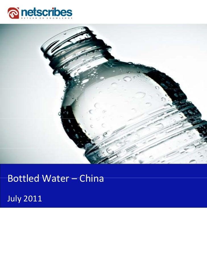 BottledWater– ChinaBottled Water ChinaJuly2011