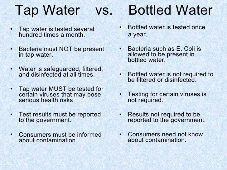 water bottle vs tap water essay