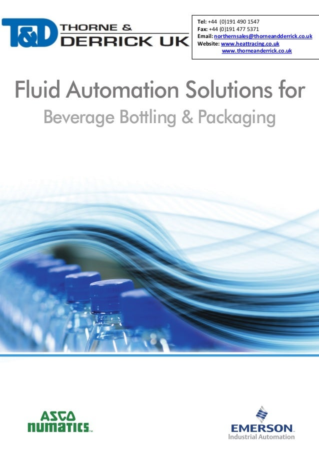 Fluid Automation Solutions for Beverage Bottling & Packaging - Brochure