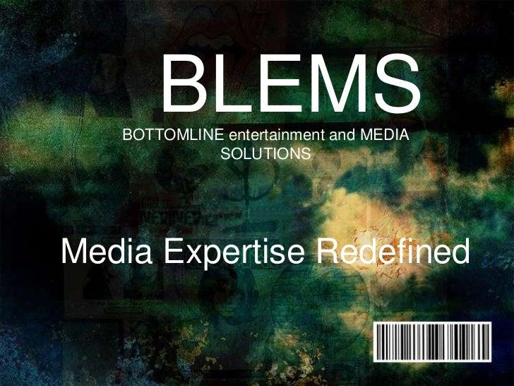 Bottom line media solutions presentation