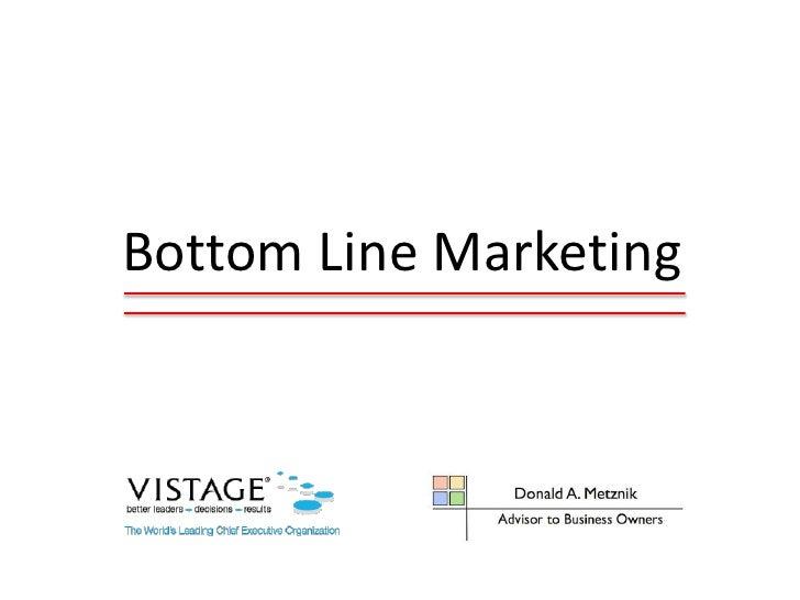 Bottom Line Marketing: How To Improve Marketing ROI