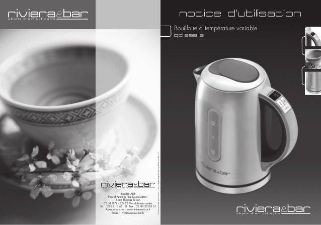 bouilloire riviera et bar qd 658a mode d 39 emploi notice. Black Bedroom Furniture Sets. Home Design Ideas