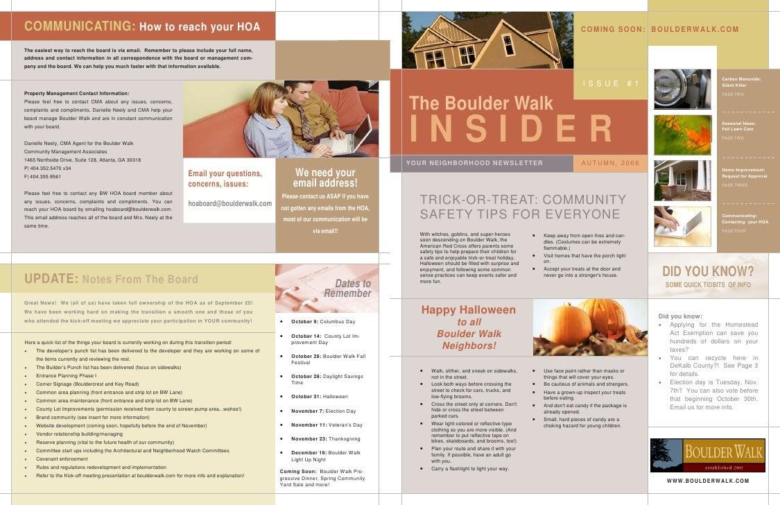 Boulderwalk Newsletter Example