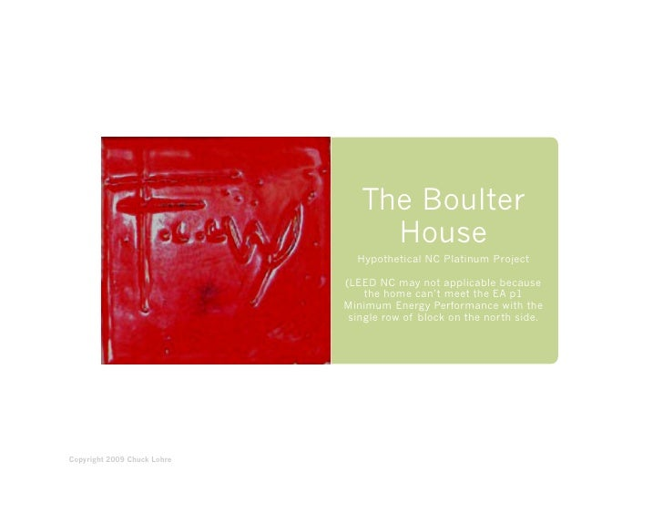 Boulter House LEED Project, Frank Lloyd Wright design