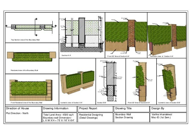 Residential Boundary Wall Design : Boundary wall