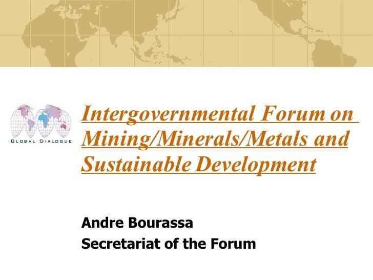 Andre Bourassa, Natural Resources Canada,