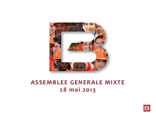 ASSEMBLEE GENERALE MIXTE 28 mai 2013