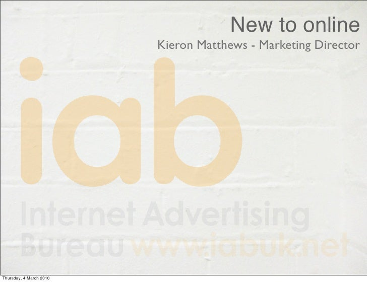 The IAB's Kieron Matthews' presentation at the Digital Talent Roadshow in Bournemouth