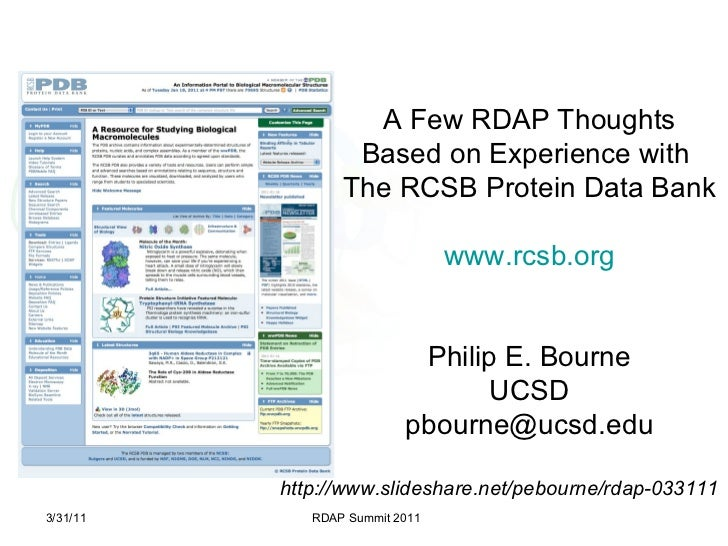 Bourne RDAP11 Data Publication Repositories