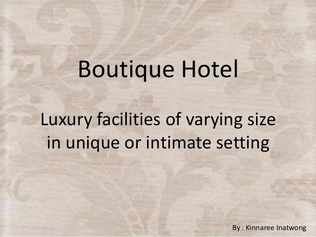 LECTURE 1 - Boutique Hotel Design Project - VDIS10006 Restoration Interiors 1