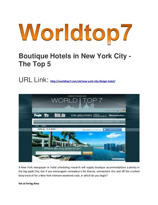 Boutique hotels in new york city the top 5 for Top boutique hotels new york