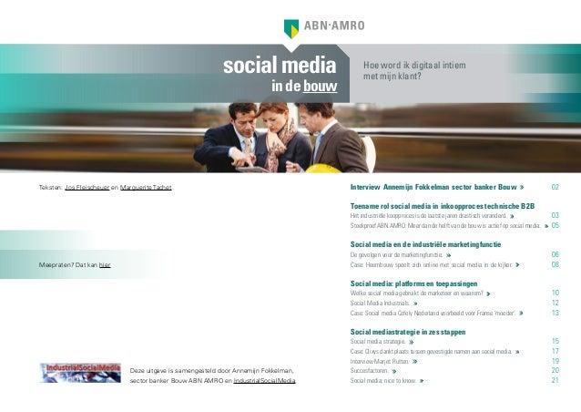 Bouw rapport socialmedia in de bouw