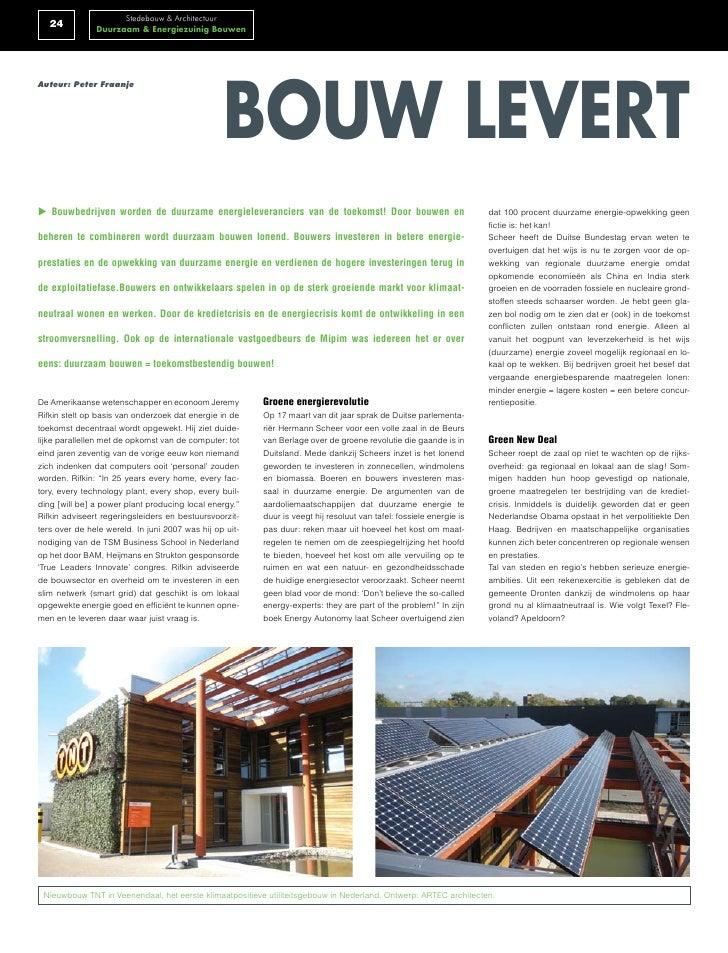 Stedebouw & Architectuur    24          Duurzaam & Energiezuinig Bouwen                                                   ...