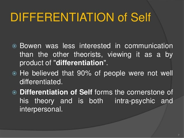 differentiation of self bowen Counseling today, knowledge share differentiation of self through the lens of mindfulness it is possible to increase one's level of differentiation bowen.