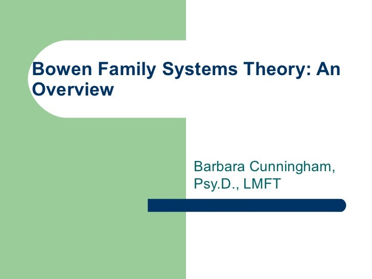 "family system essay In his work ""general systems theory:&essays on its foundation and systems was possible because as long as the family system was functioning properly it."