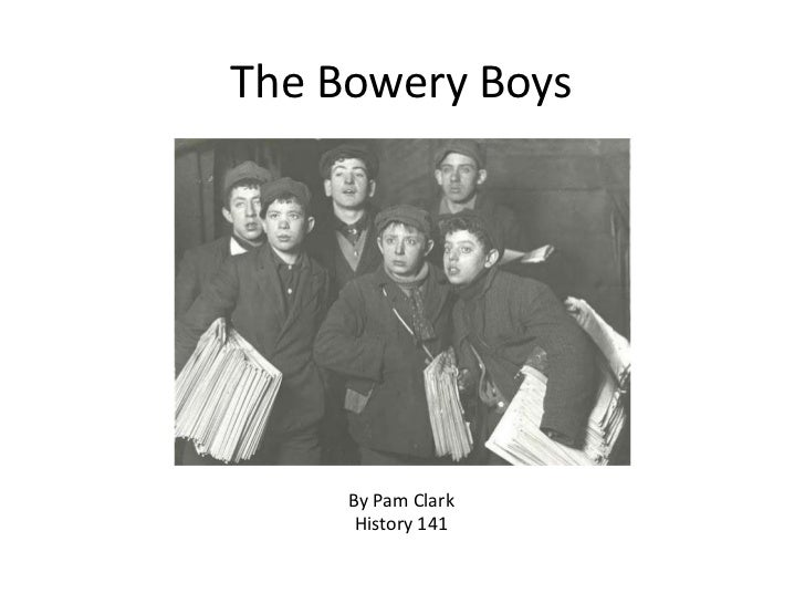 The Bowery Boys     By Pam Clark      History 141