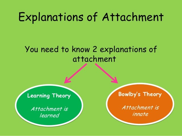 bowlbys attachment theory Attachment theory is centered on the emotional bonds between people and suggests that our earliest attachments can leave a lasting mark on our lives.