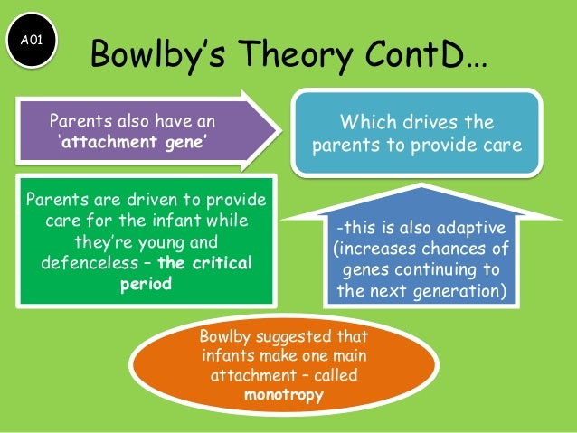 "an analysis of john bowlbys theory of attachment in psychology Theory analysis - attachment theory theory analysis вђ"" attachment theory background origin 1 founder: john bowlby (1969) 2 theoretical background: attachment theory is originated from psycho-analytical, combined the wisdom of ethology, biology and developmental psychology."