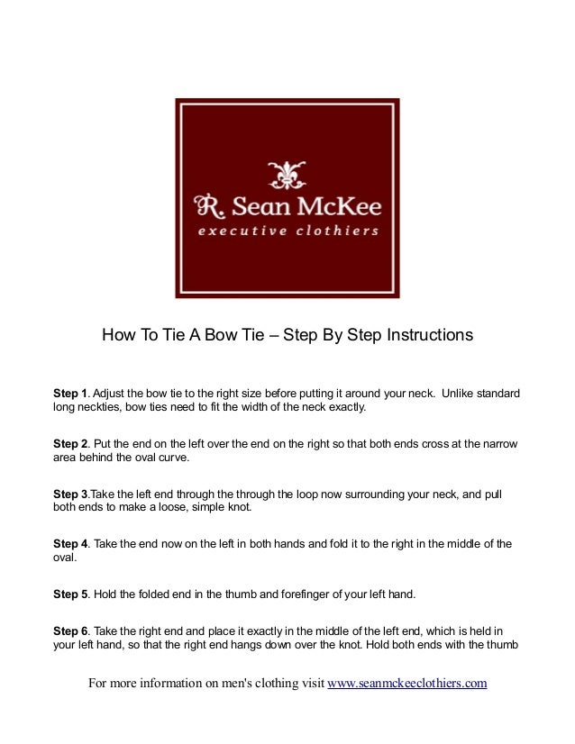 How To Tie A Bow Tie - Step By Step Instructions