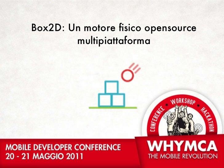 Box2D: Un motore fisico  opensource multipiattaforma