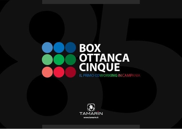 BOXOTTANCACINQUEIL PRIMO COWORKING IN CAMPANIA  www.tamarin.it