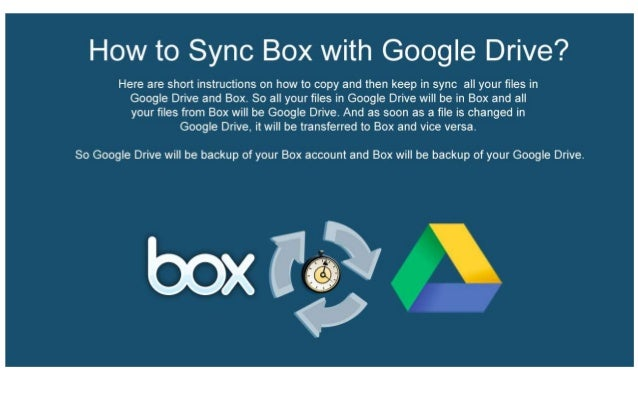 Sync Box with Google Drive