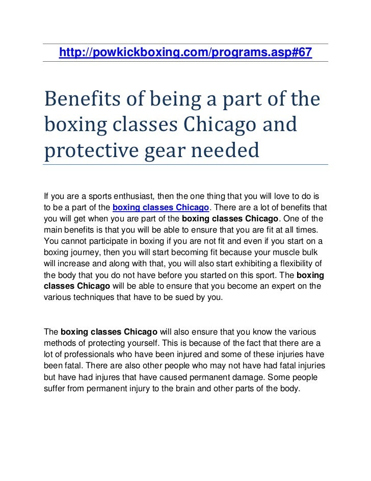 http://powkickboxing.com/programs.asp#67Benefits of being a part of theboxing classes Chicago andprotective gear neededIf ...