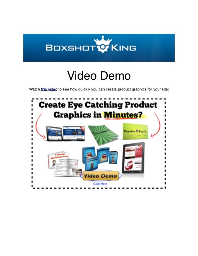 Video DemoWatch this video to see how quickly you can create product graphics for your site: