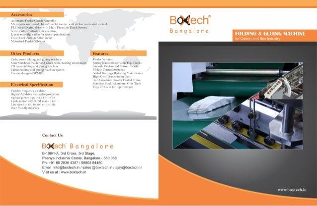 Boxtech Bangalore, Bengaluru, Gluing & Packaging Machines