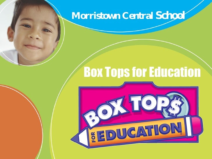 Box Tops for Education Morristown Central  School
