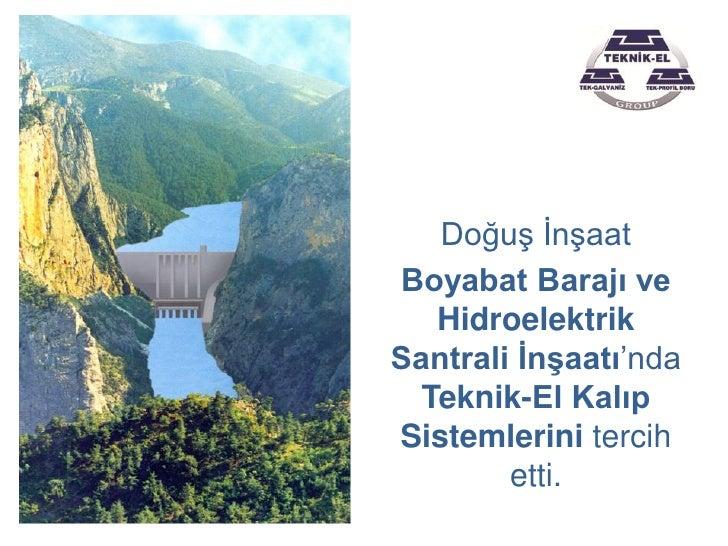Boyabat Barajı ve HES Projesi