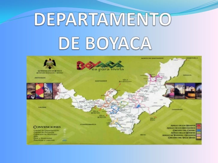 DEPARTAMENTO DE BOYACA<br />