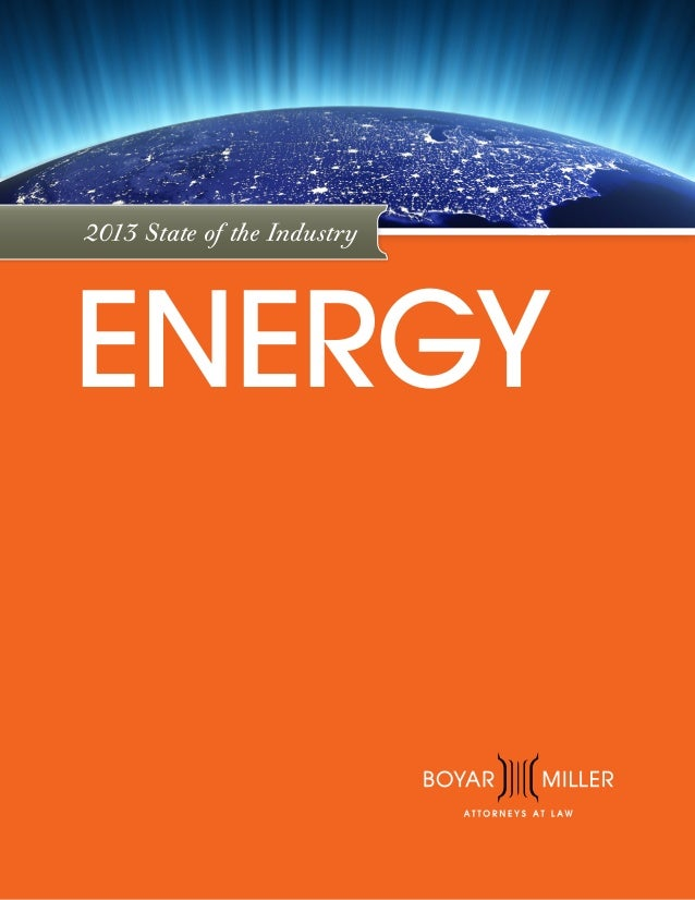 BoyarMiller Energy eBook 2013 State of the Industry