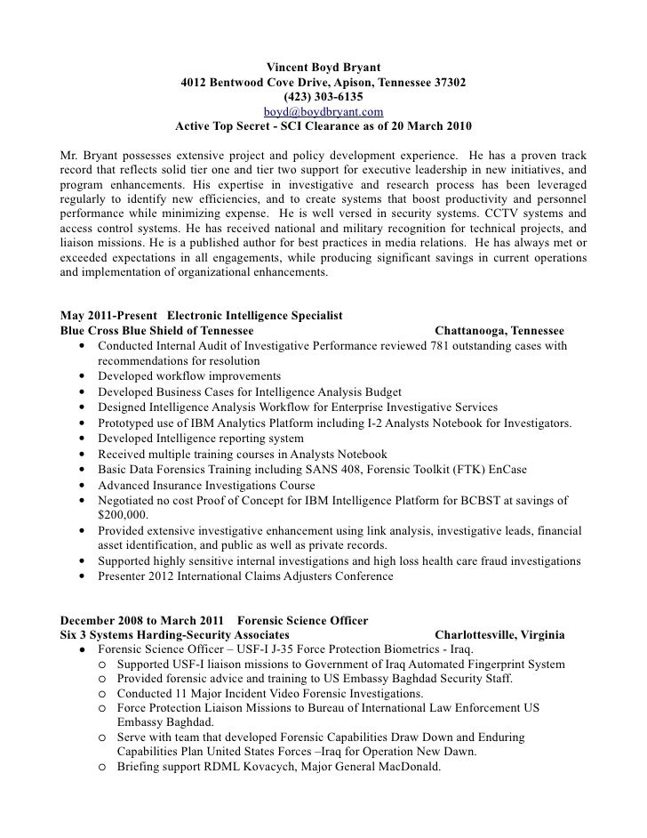 federal resume example 2012